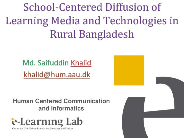 School-Centered Diffusion of Learning Media and Technologies in Rural Bangladesh