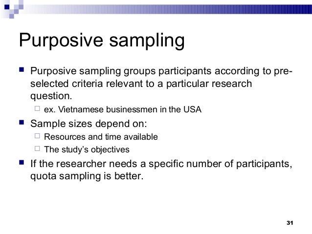 purposive sampling qualitative research