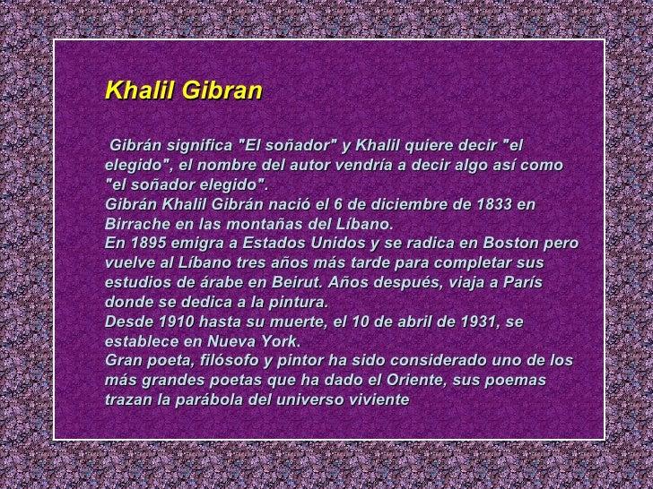 poemas de khalil gibran sobre el amor
