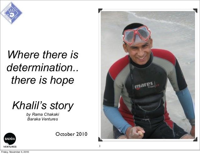 Khalil, Diving & The Palestine Children's Relief Fund