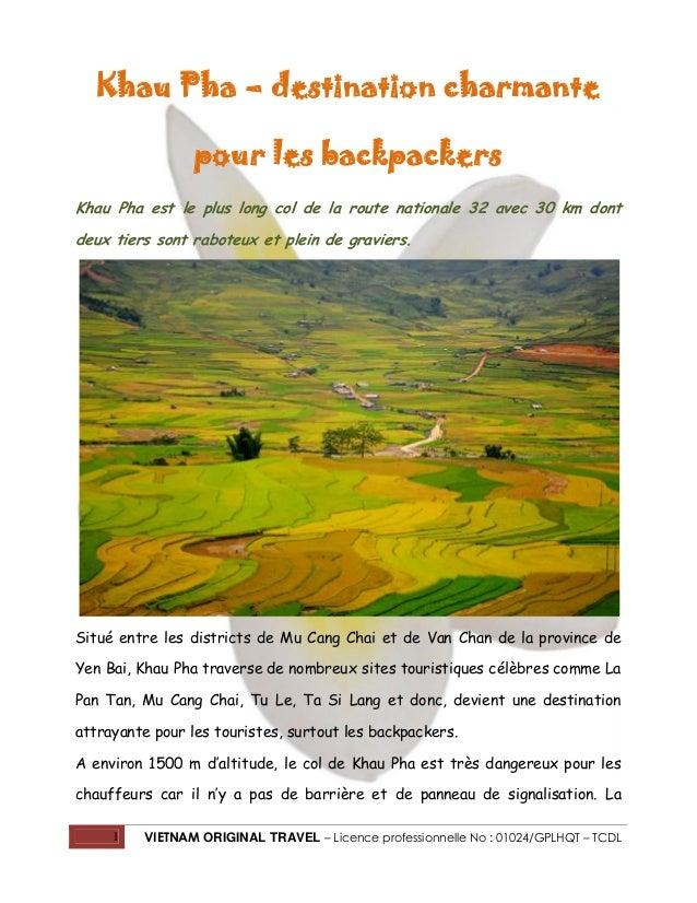 Khau Pha – destination charmante pour les backpackers Khau Pha est le plus long col de la route nationale 32 avec 30 km do...