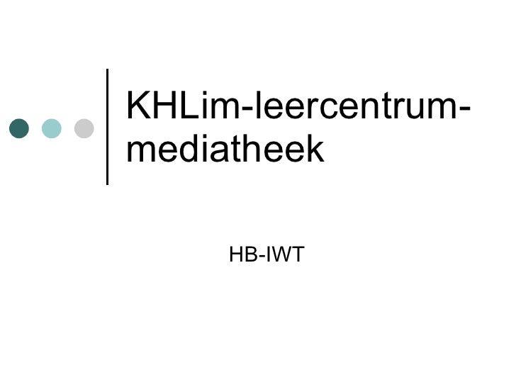 KHLim-leercentrum-mediatheek HB-IWT