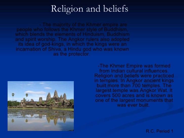 Khmer Empire Religion of The Khmer Empire Are