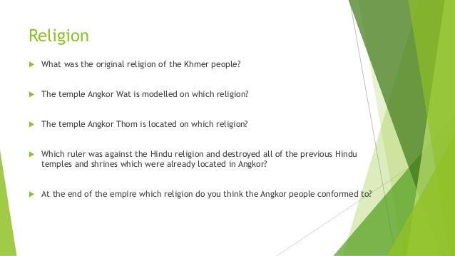 Khmer Empire Religion Religion of The Khmer