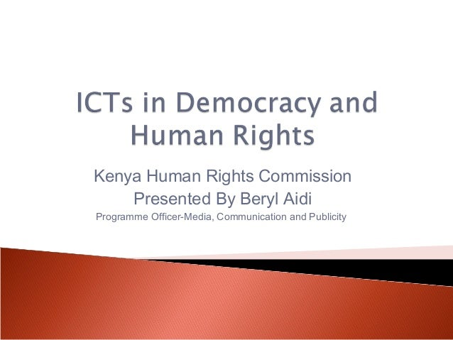 ICTs in Democracy and Human Rights