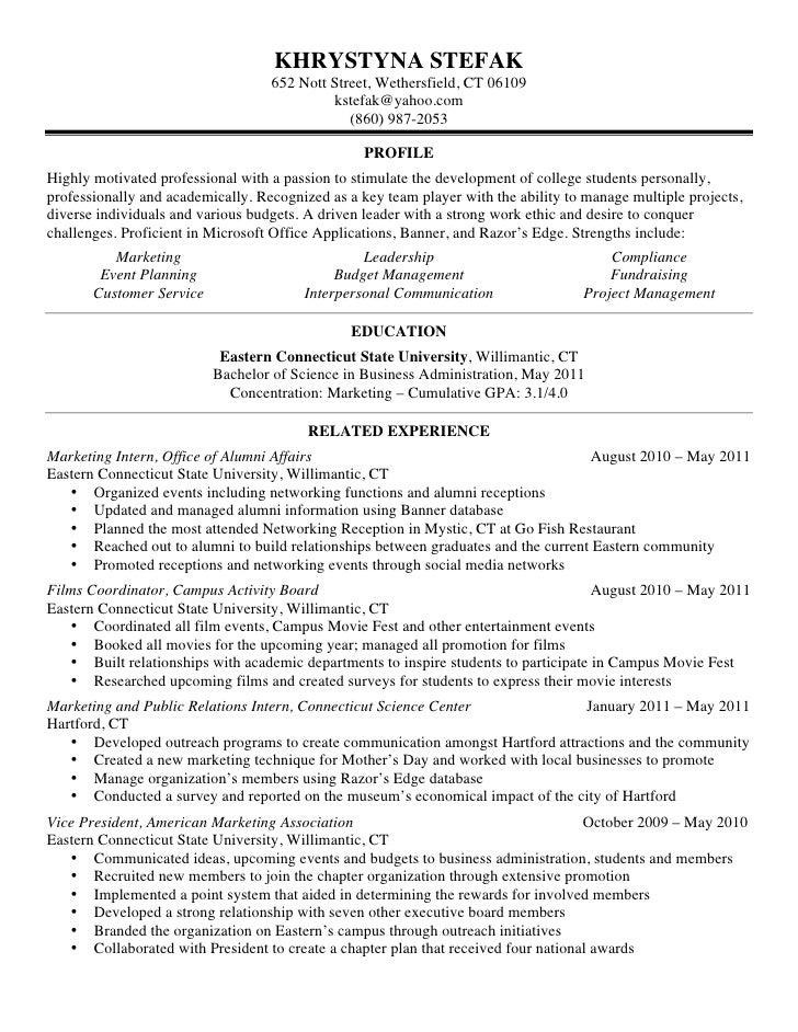 khrystyna stefak resume