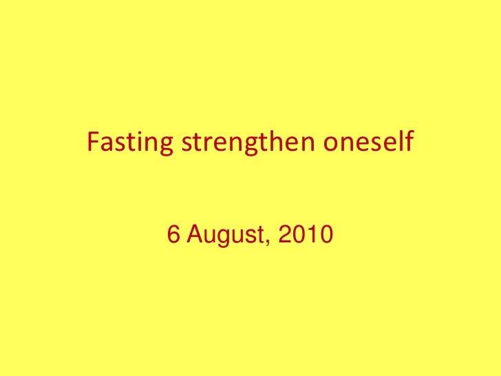 Khutbah puasa membina kekuatan diri