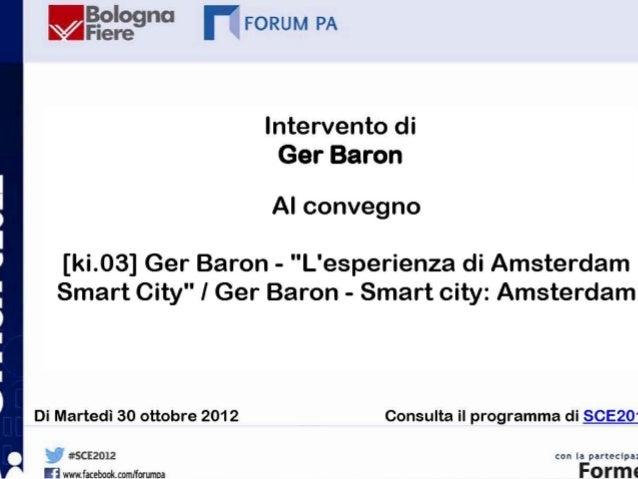 Ger Baron a SCE 2012