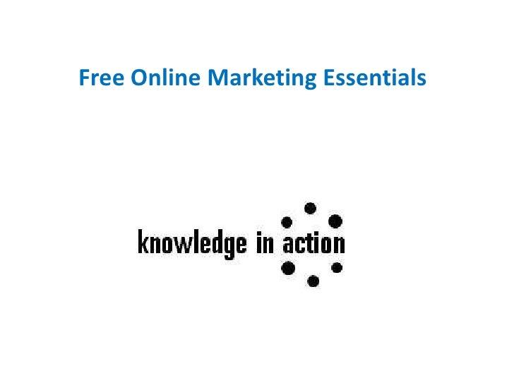 Free Online Marketing Essentials