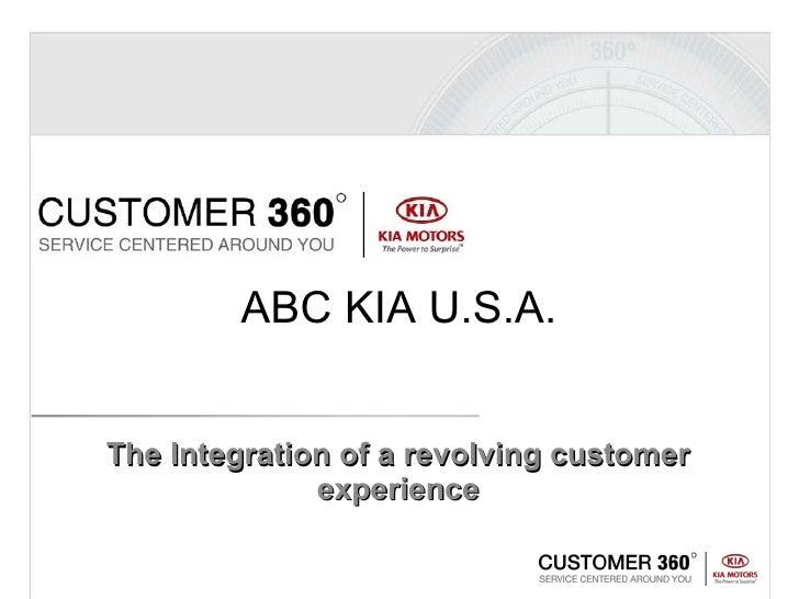 The Integration of a revolving customer experience ABC KIA U.S.A.