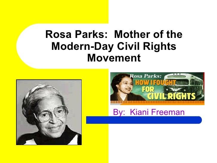 Kiani's rosa parks