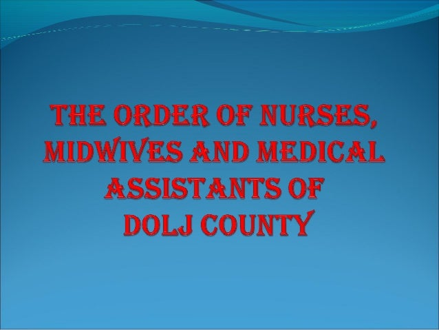 The Order of General Nurses, Midwives and Nurses Dolj (OAMGMAMR) was established under Ordinance 144/2008 in accordance wi...