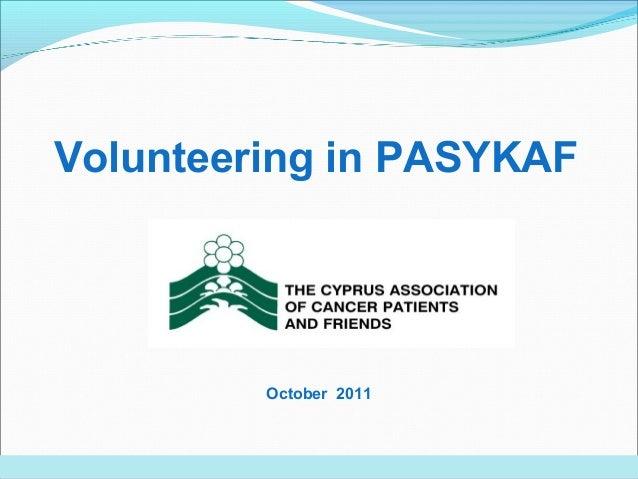 Volunteering in PASYKAF October 2011