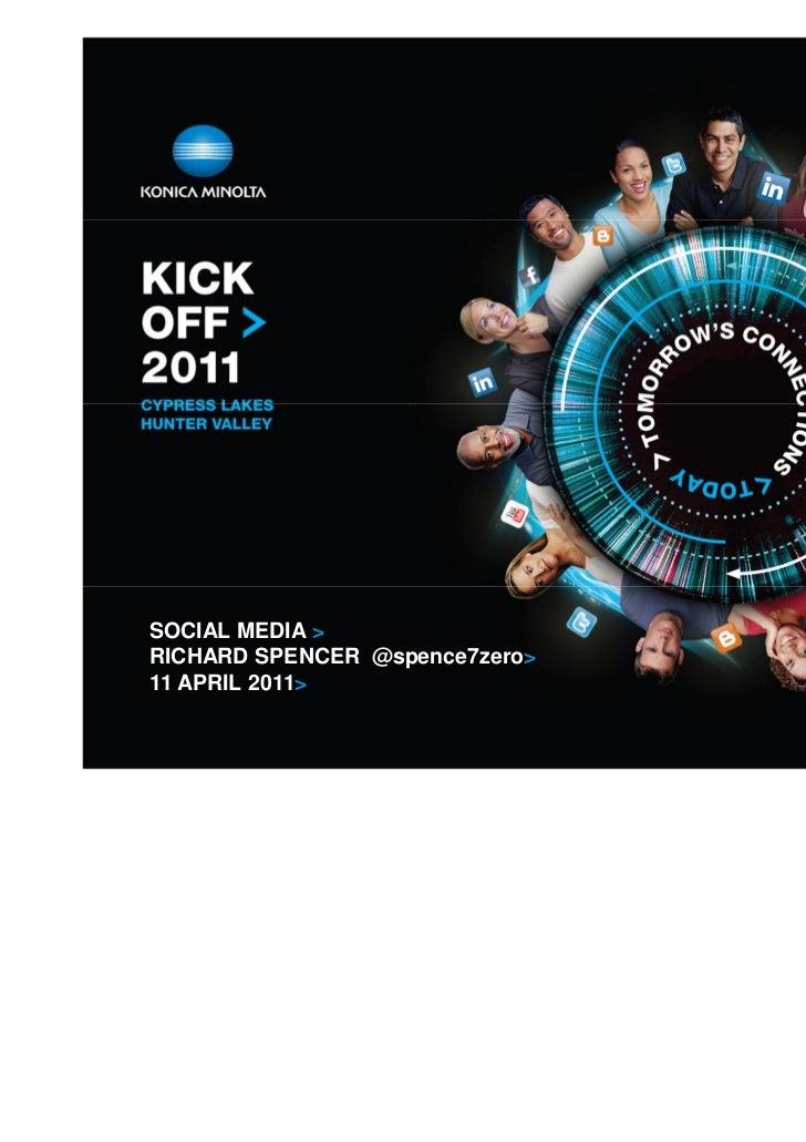 Kick off Social Media
