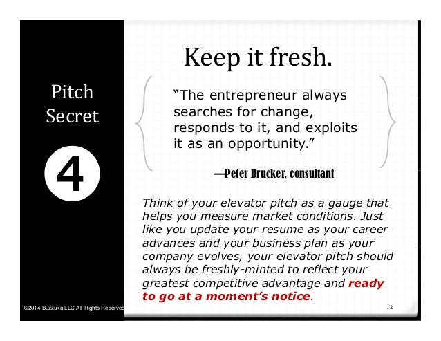 30 second pitch examples