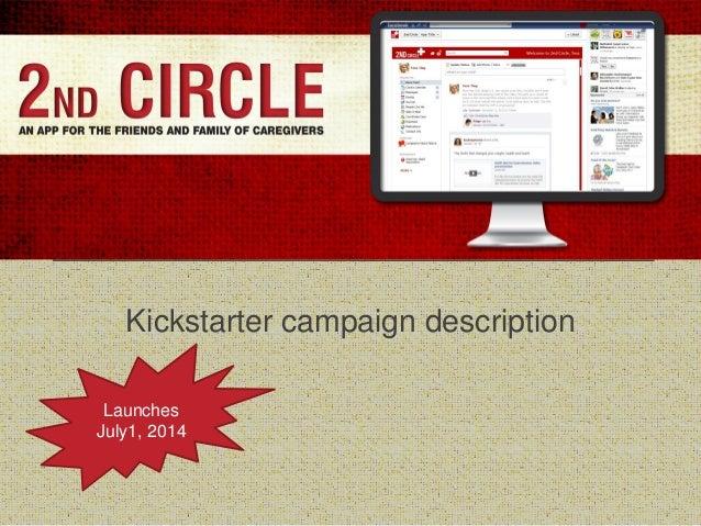 Kickstarter campaign description Launches July1, 2014