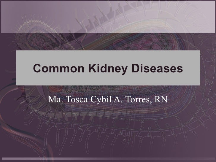 Common Kidney Diseases Ma. Tosca Cybil A. Torres, RN