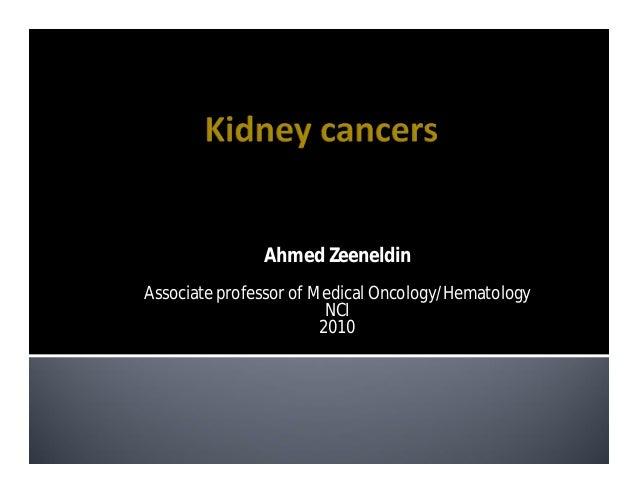 Ahmed ZeeneldinAssociate professor of Medical Oncology/Hematology                         NCI                        2010