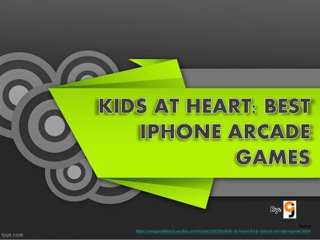 Kids At Heart Best iPhone Arcade Games