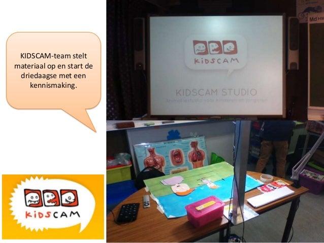 KIDSCAM-team stelt materiaal op en start de driedaagse met een kennismaking.
