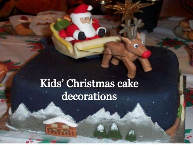 Kids  Christmas Cake Decorations