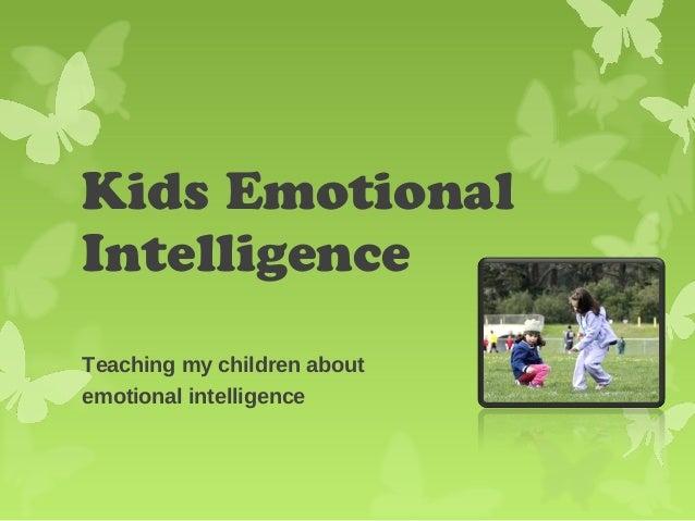 Kids emotional intelligence