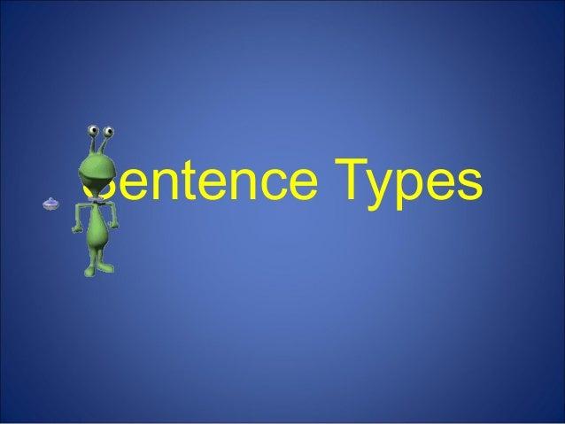 Four types of sentences for kids!