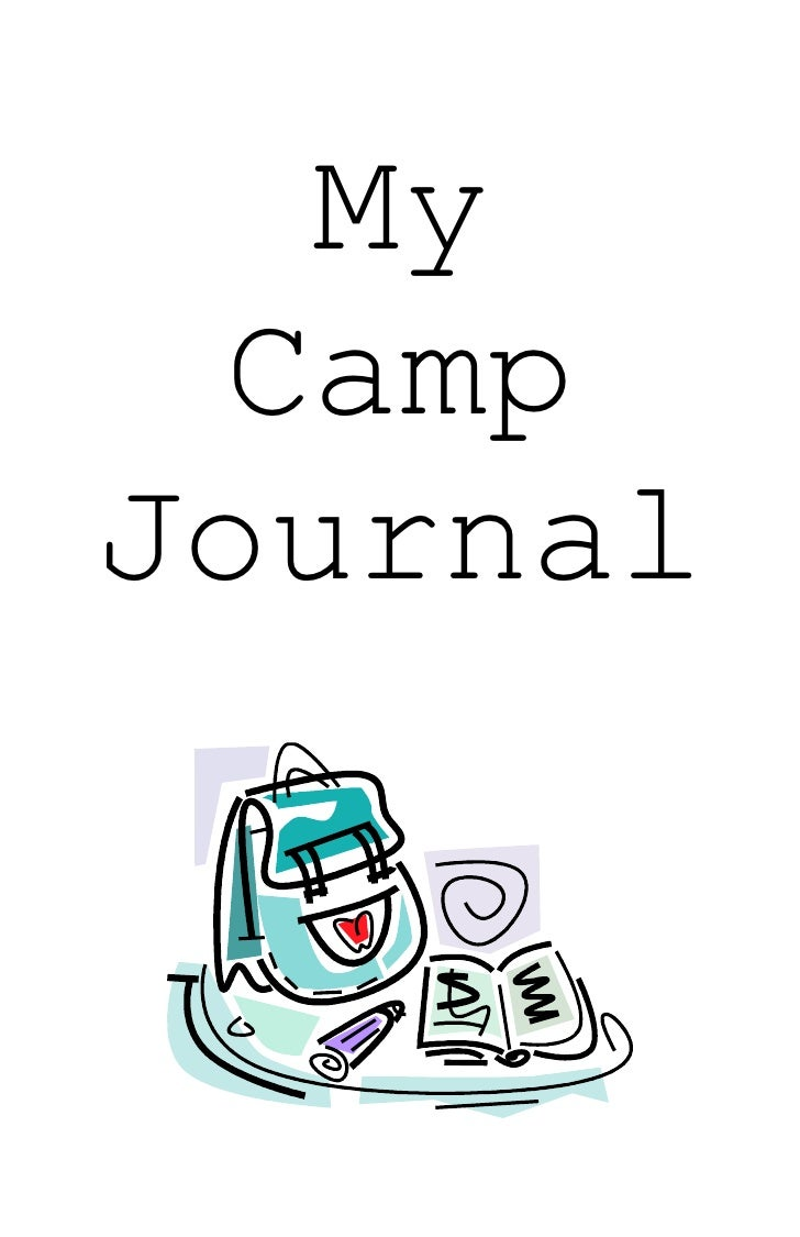 Kids Summer Camp Or Vacation Journal