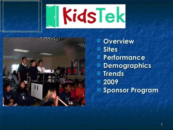 Kids Tek Master Presentation 012309
