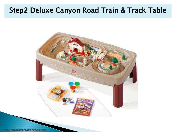step2 deluxe canyon road train and track table images