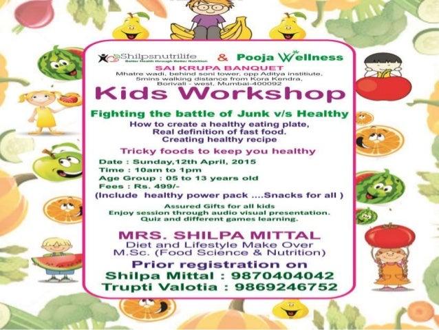 KIDS WORKSHOP DETAILS