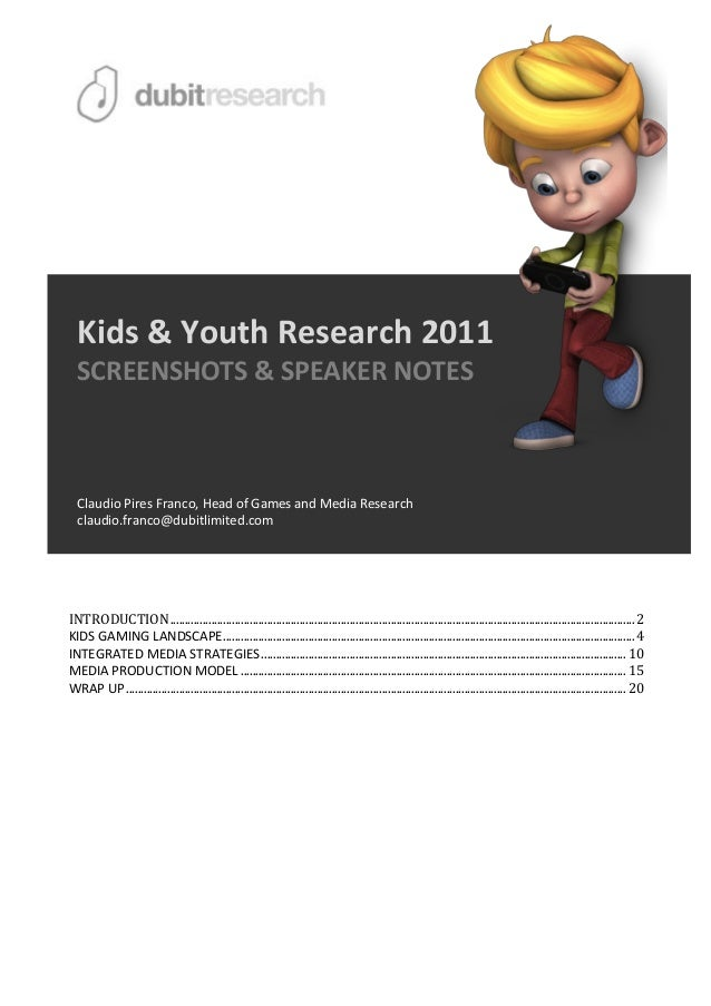 Digital Media Adaptation Model - MRS Kids&youth2011 conference [screens+notes]