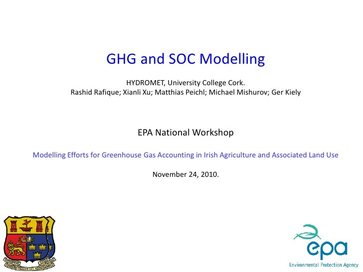 GHG and SOC Modelling                            HYDROMET, University College Cork.           Rashid Rafique; Xianli Xu; M...