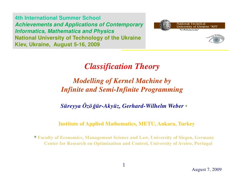 Classification Theory