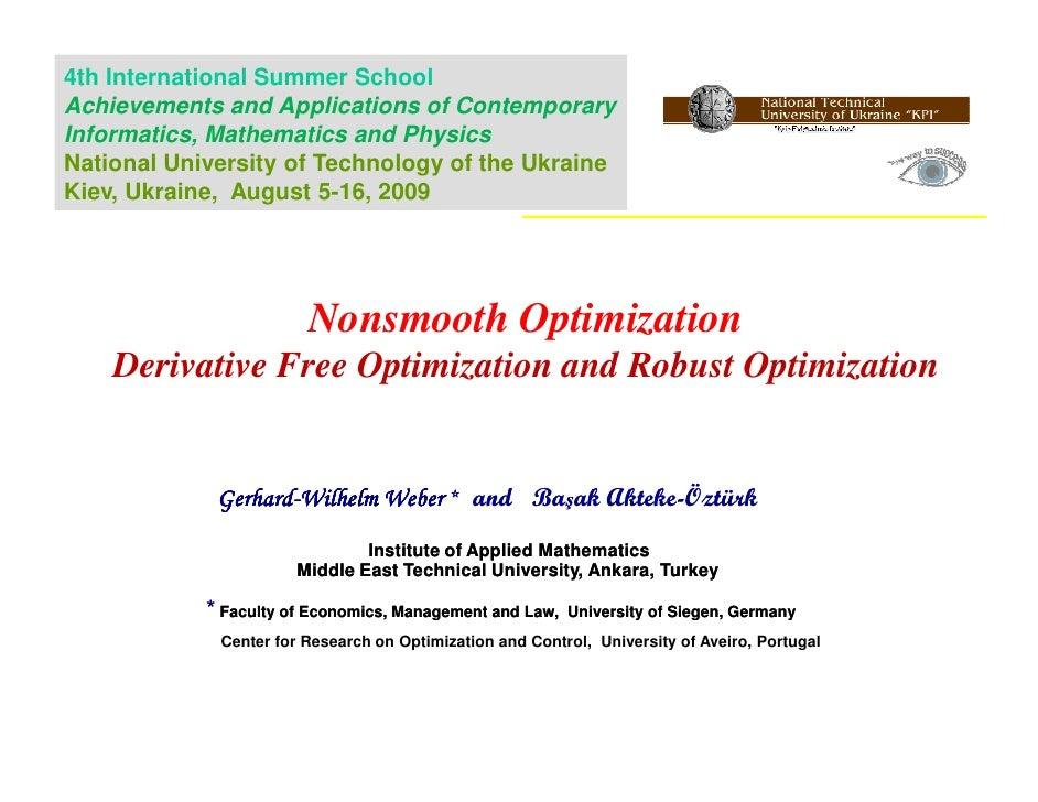 Derivative Free Optimization and Robust Optimization