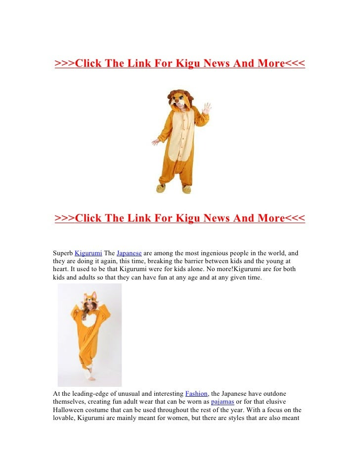 >>>Click The Link For Kigu News And More<<<>>>Click The Link For Kigu News And More<<<Superb Kigurumi The Japanese are amo...
