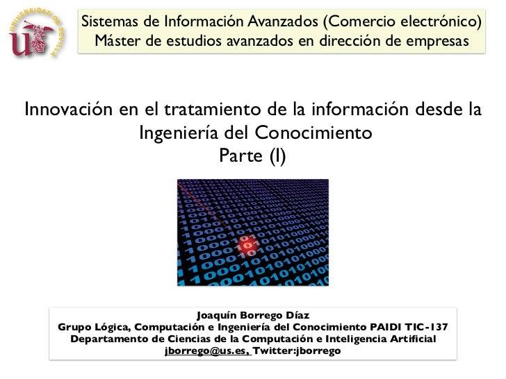 Sistemas de Información Avanzados (Comercio electrónico)          Máster de estudios avanzados en dirección de empresasInn...
