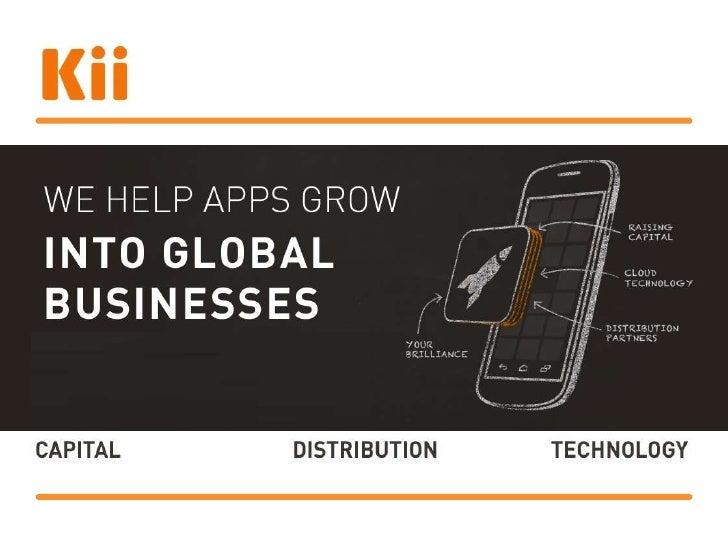Kii Cloud Product SlidesOverview