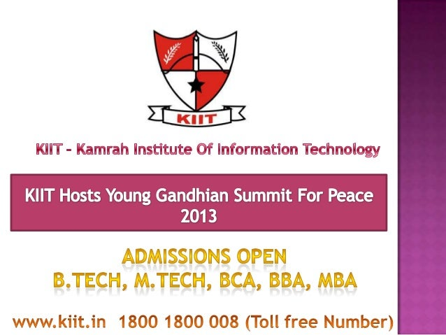 Young Gandhian Summit for Peace was organized jointly by Gandhi GlobalFamily and KIIT on 15 April, 2013 in a simple but an...