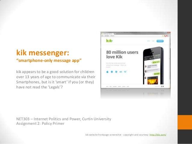 Policy Primer - kik Messenger (NET303 - Curtin Uinversity)