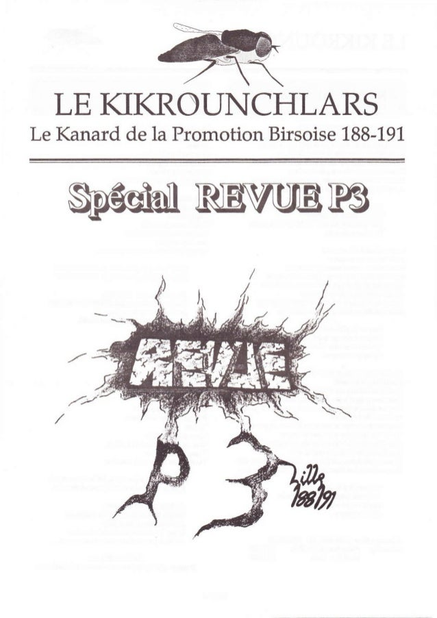 LE KIKROUNCHLARSLe Kanard de la Promotion Birsoise 188-191,