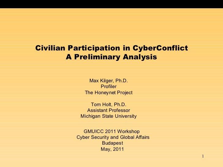 Civilian Participation in CyberConflict