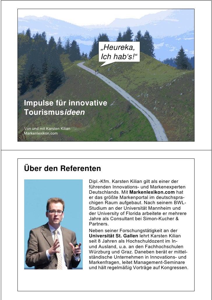Karsten Kilian: Innovative Tourismusideen_9/2010