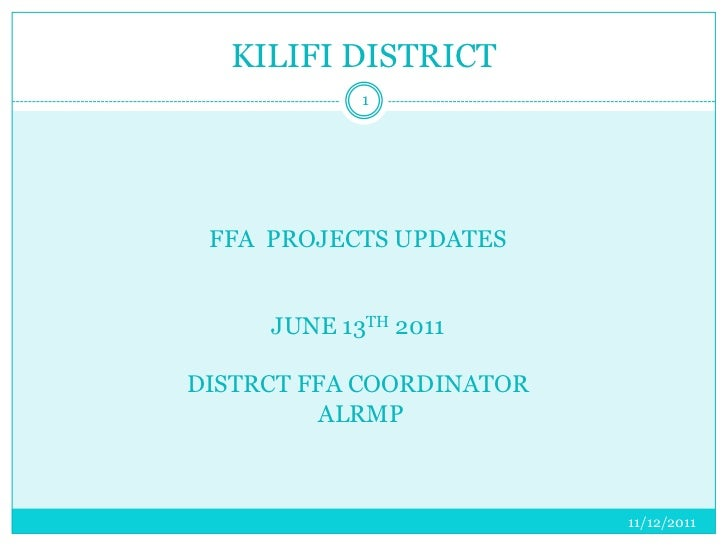 Kilifi District Food For Asset brief