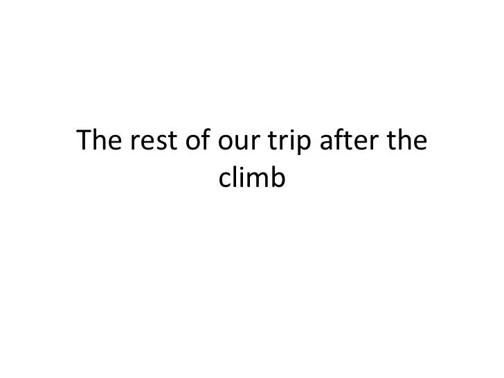 Kilimanjaro climb part 2