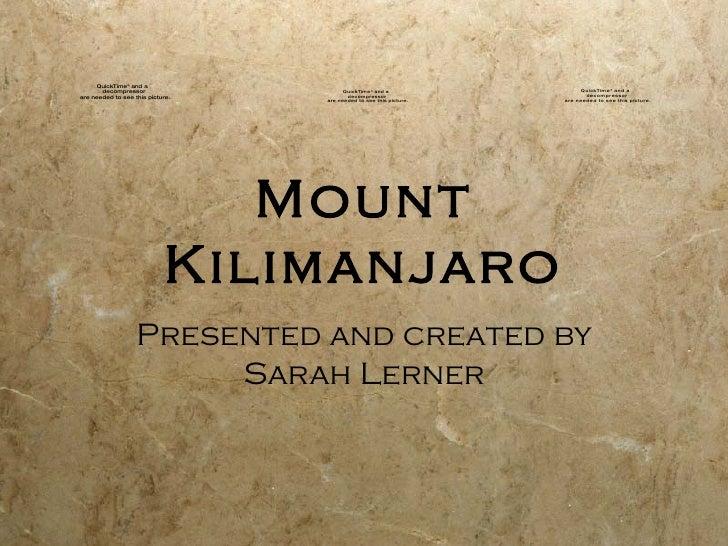 Kilimanjaro: Mrs. Marr