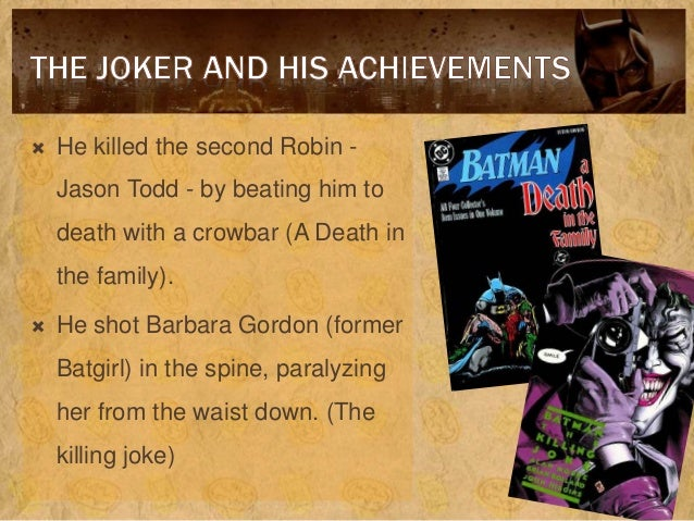 batman s morals vs the joker essay A talk with robert arp and mark d or is batman a virtue ethicist who makes moral decisions based on his own doesn't batman just kill the joker.