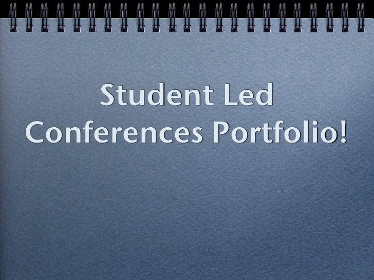 Student Led Conference - Kim