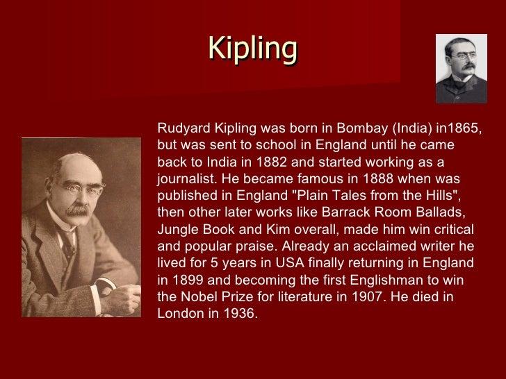 rudyard kipling wrote an essay