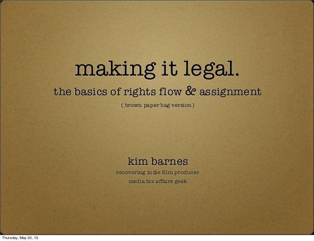 Kim Barnes presents Making It Legal